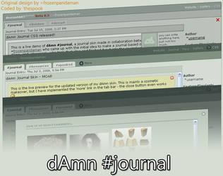 dAmn Journal CSS by frozenpandaman