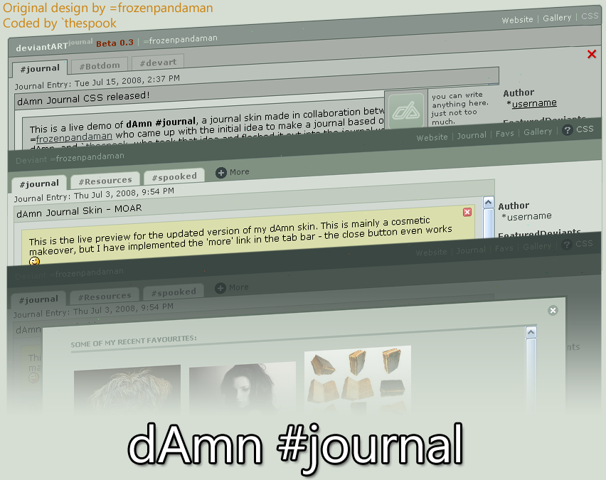 dAmn Journal CSS by frozenpandaman