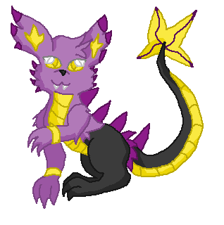 poison fusion shinx by ShifterDreams