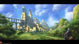 Fantasy city by Long-Pham
