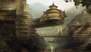 Asian city concept