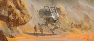 Mech dude in the desert