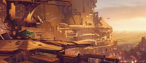 Sci fi cityscape