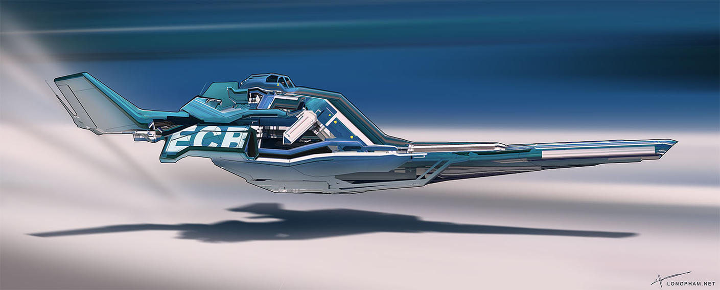 Racer ship - Blue by Long-Pham