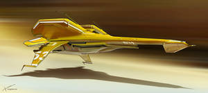 Racer ship - Yellow