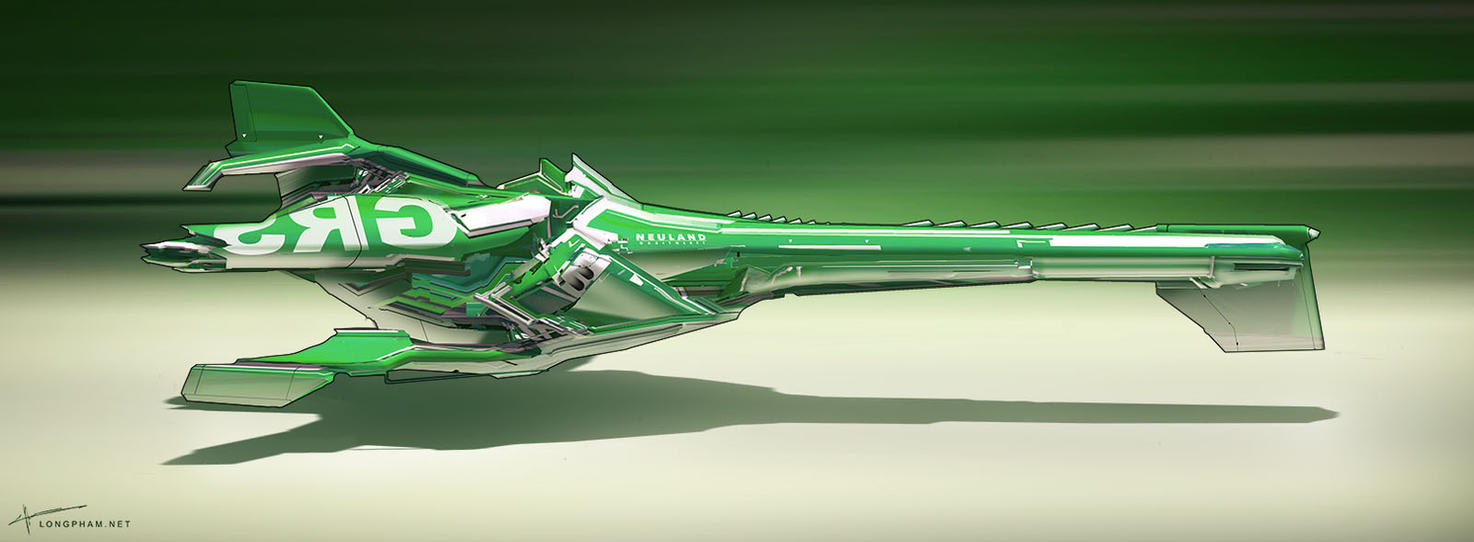 Racer ship - Green by Long-Pham