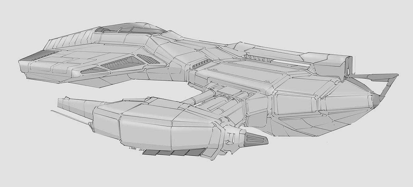 Ship linesketch by Long-Pham