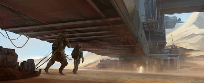 Scifi Desert settlement