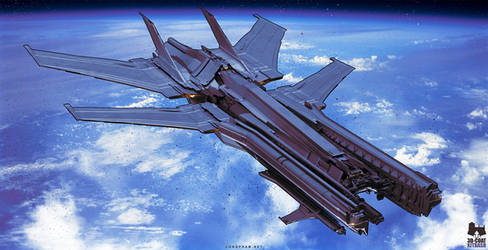 Spaceship - 3D-Coat Kitbash by Long-Pham