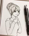 Student girl - sketch
