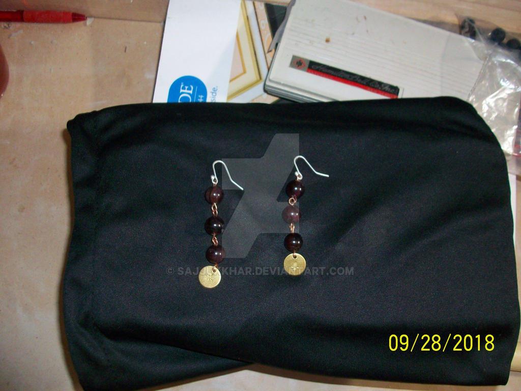 Simple Garnet Earrrings mk1 by SajjukKhar