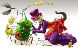 Commission - Steampunk Ferret by Clockwork7
