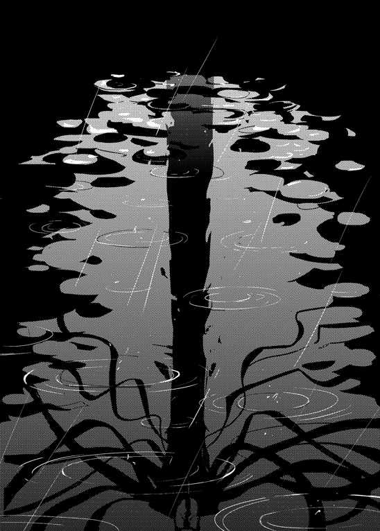 Slenderman reflection by Clockwork7