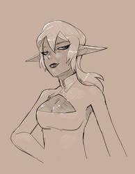 Dark Elf Sketch by Clockwork7