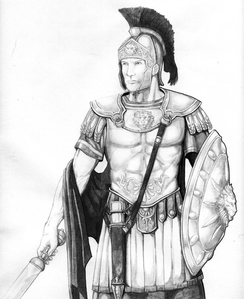Greek God Ares Drawing Mars, Roman God of War...