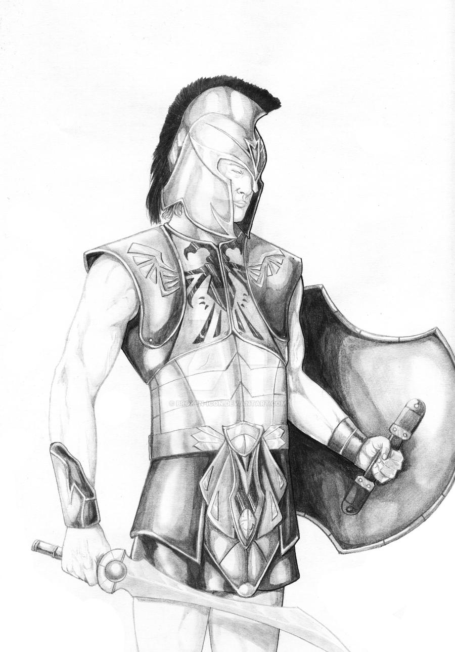 Greek God of War Drawings Ares Greek God of War by