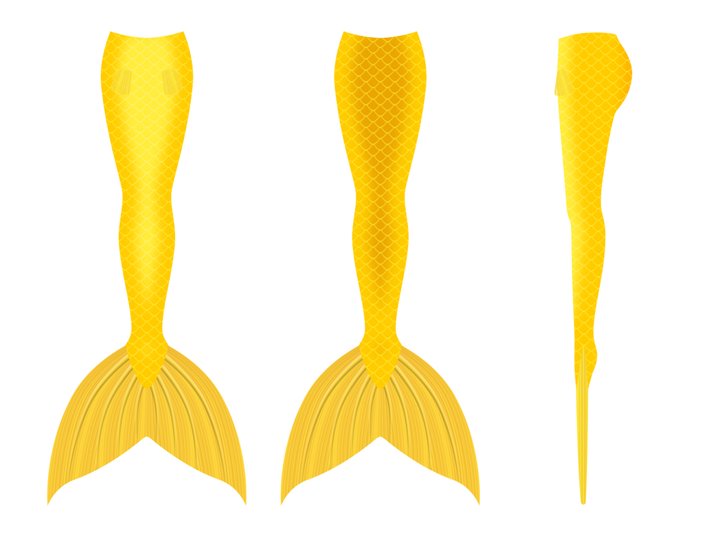 Mermaid Tail Design 5 (Gold) by Hydra1337
