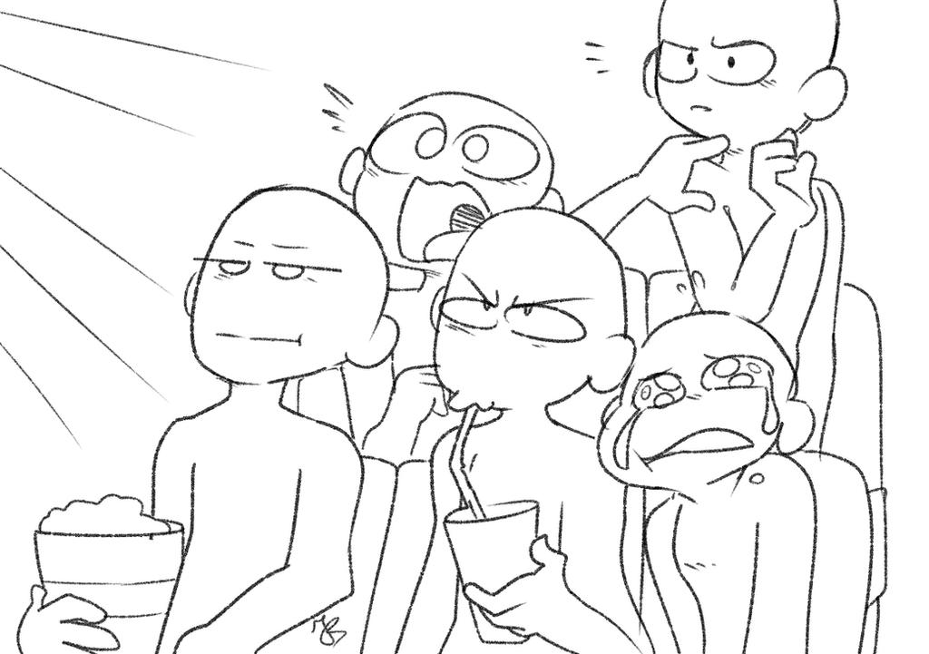 Line Art Meme : Draw the squad cinema by ariakey on deviantart