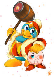 Dedede And Kirby by AriaKey