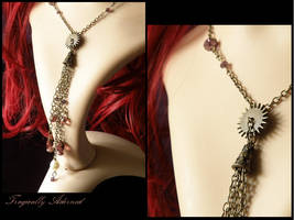 Steampunk Tie Necklace by Nya99