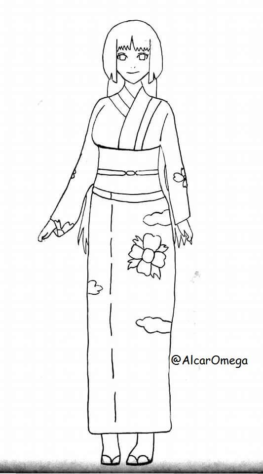 Sumire with Kimono by AlcarOmega