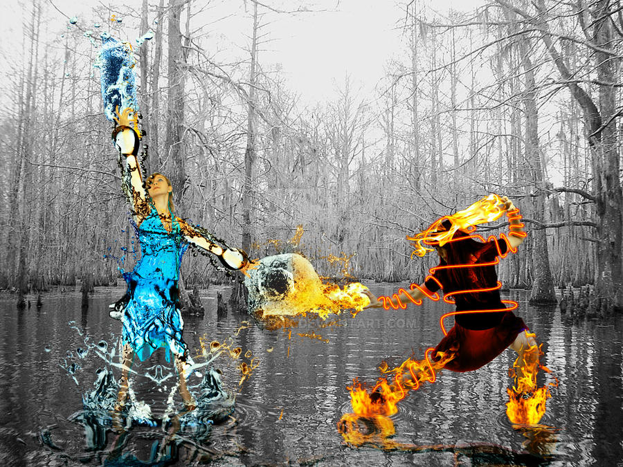 Water vs Fire manipulation by Golf-Punk