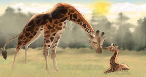 Practice Painting: Giraffe