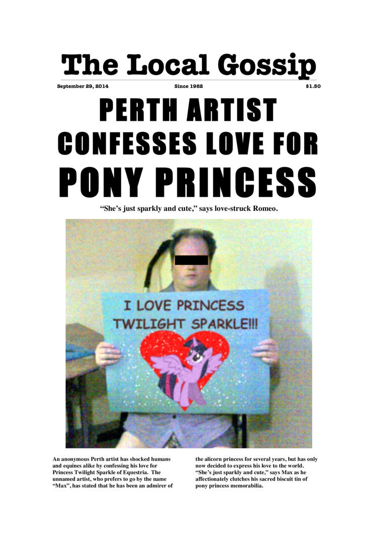 Artist Confesses Love For Pony Princess - Page 1 by ManyardButler
