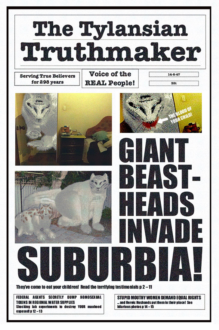 GIANT BEAST-HEADS INVADE SUBURBIA! by ManyardButler