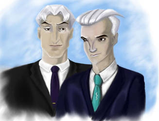 Magneto and Quicksilver - An old school by QueenAvalanche