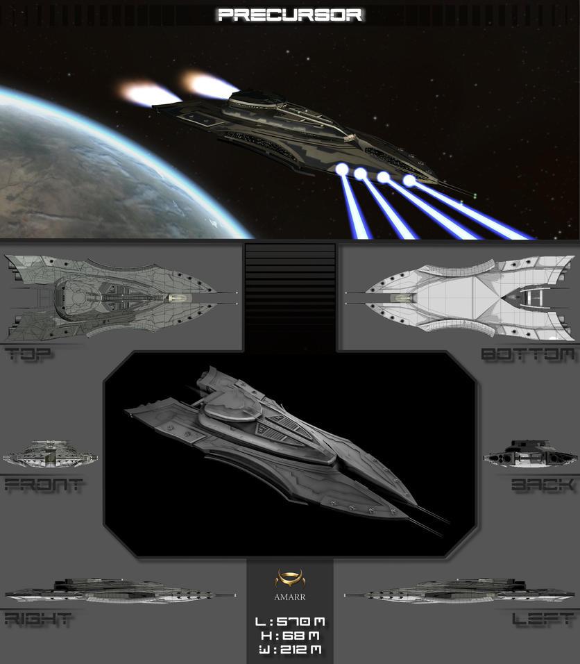'Precursor' Battlecruiser by DerPizzadieb