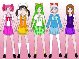 Rainbow Heart Girl As School Girl by vanmelo420
