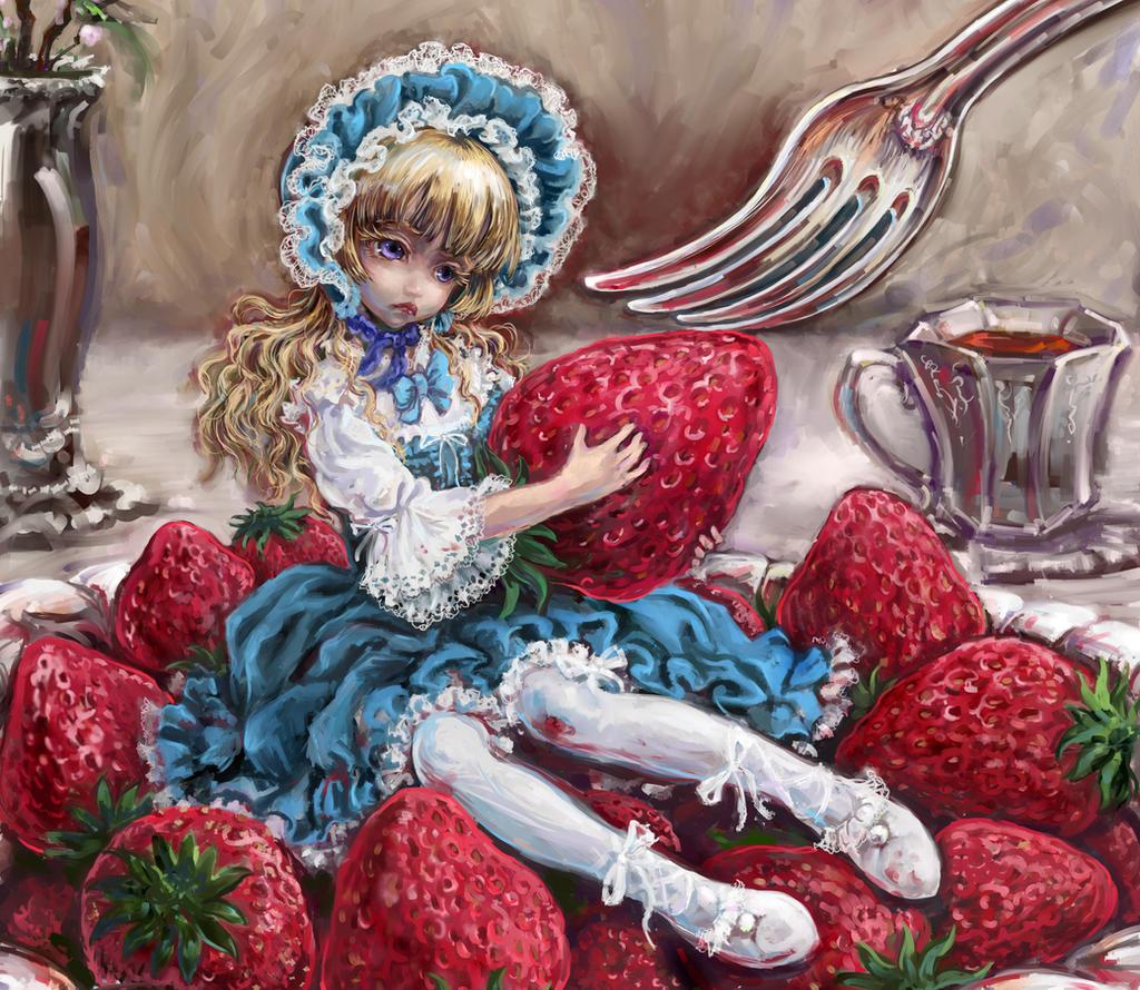 Season of  strawberries by DensenManiya
