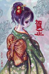 New Year's card by DensenManiya
