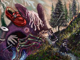 The devil of the mountain pass by DensenManiya