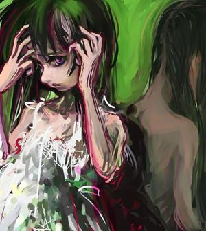 Melancholia green by DensenManiya
