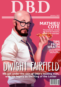 Dead by Daylight magazine cover - Dwight Fairfield