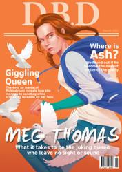 Dead by Daylight magazine cover - Meg Thomas