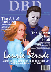 Dead by Daylight magazine cover - Laurie Strode