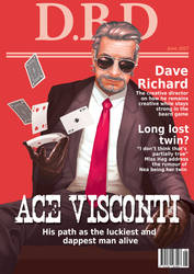 Dead by Daylight magazine cover - Ace Visconti