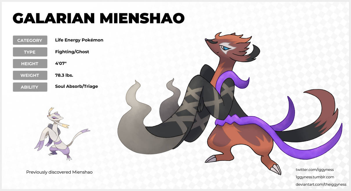 Galarian Mienshao By Theiggyness On Deviantart