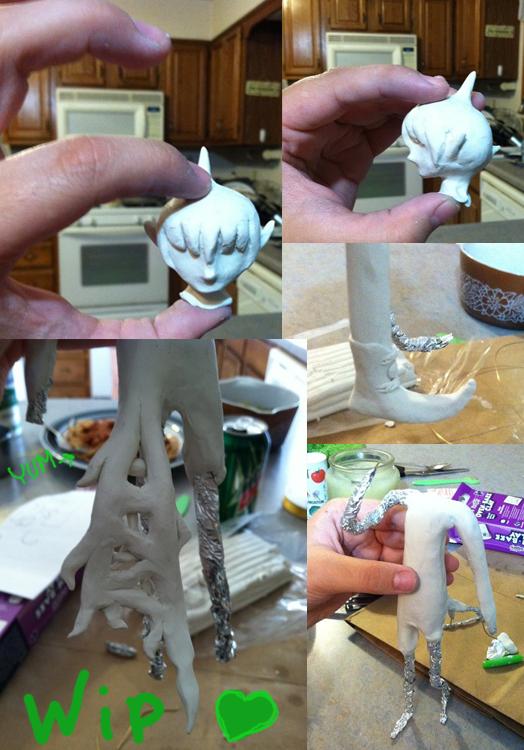 Amaimon Sculpture WIP by StoopidChelsea