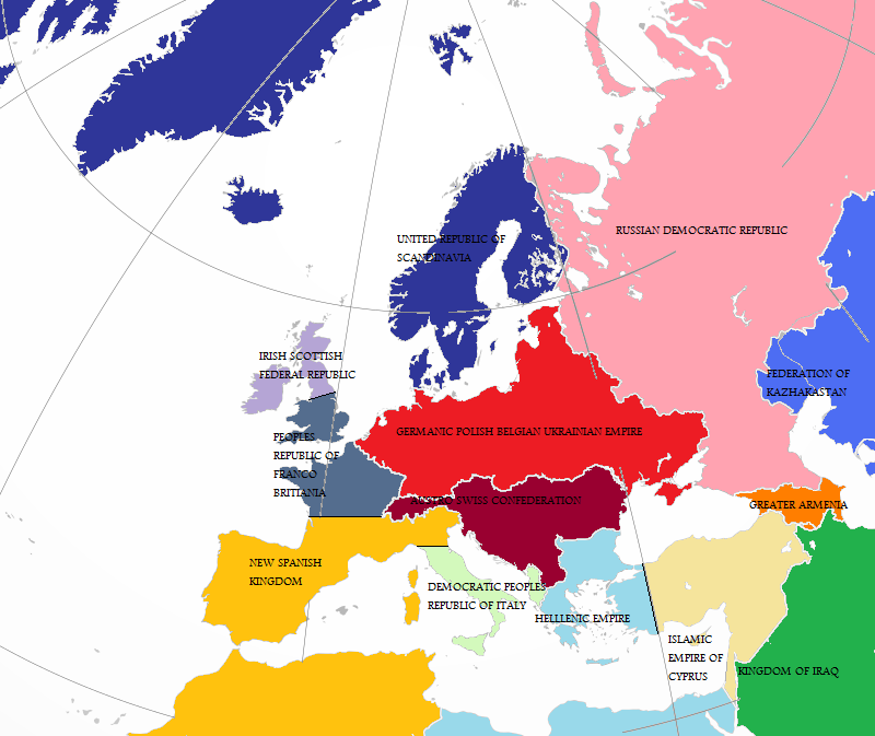 Alternate History Map Of Europe by gamekiller12 on DeviantArt