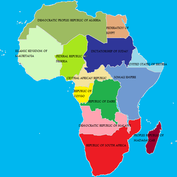 Alternate History Map Of Africa by gamekiller12 on DeviantArt