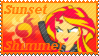 Equestria Girls Sunset Shimmer Stamp by Knightmare-Moon