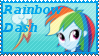 Equestria Girls Rainbow Dash Stamp by Knightmare-Moon