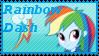 Equestria Girls Rainbow Dash Stamp by Knightmare-Moon