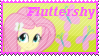 Equestria Girls Fluttershy Stamp by Knightmare-Moon