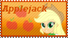 Equestria Girls Applejack Stamp by Knightmare-Moon