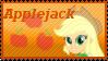 Equestria Girls Applejack Stamp by Knightmare-Moon